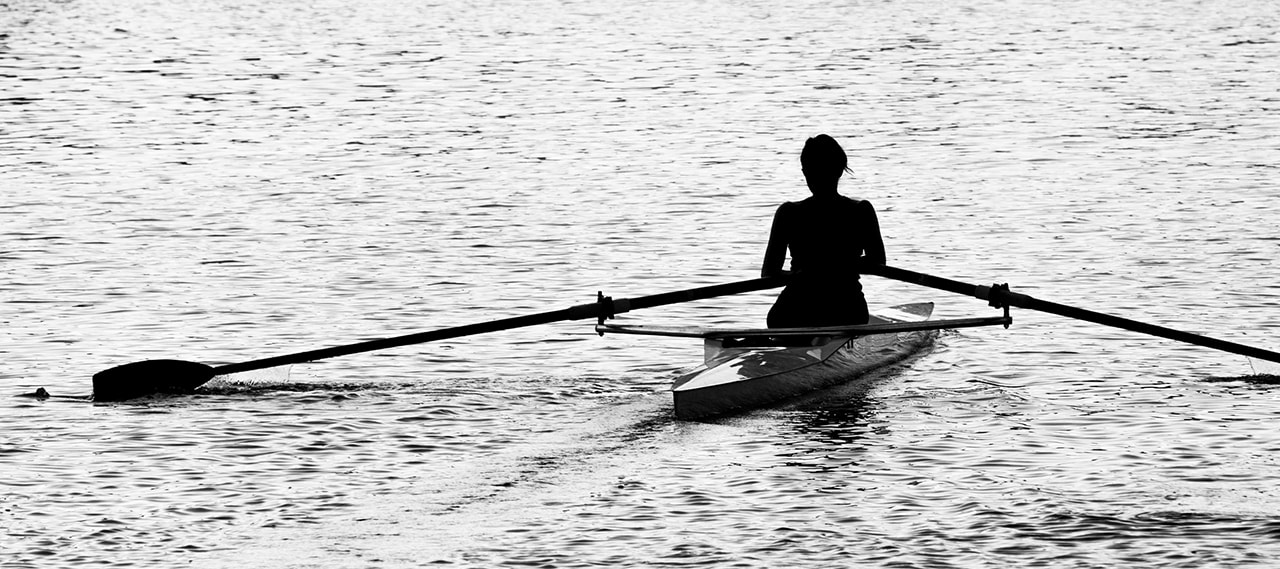 Rower on River